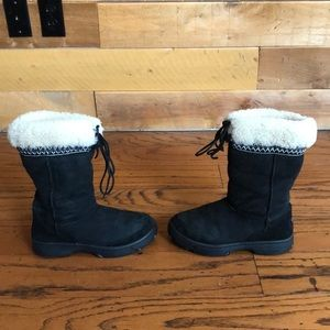 Ugg Black Ultimate cuff tie shearling winter boots